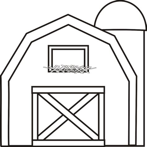 Barn With Silo Coloring Page Use With Big Red Barn Barn Coloring Page