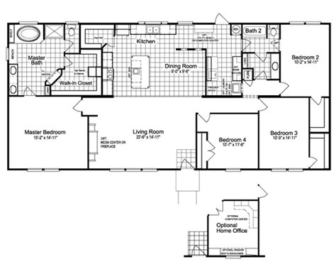4 bedroom 3 bathroom mobile home floor plans thefloors co