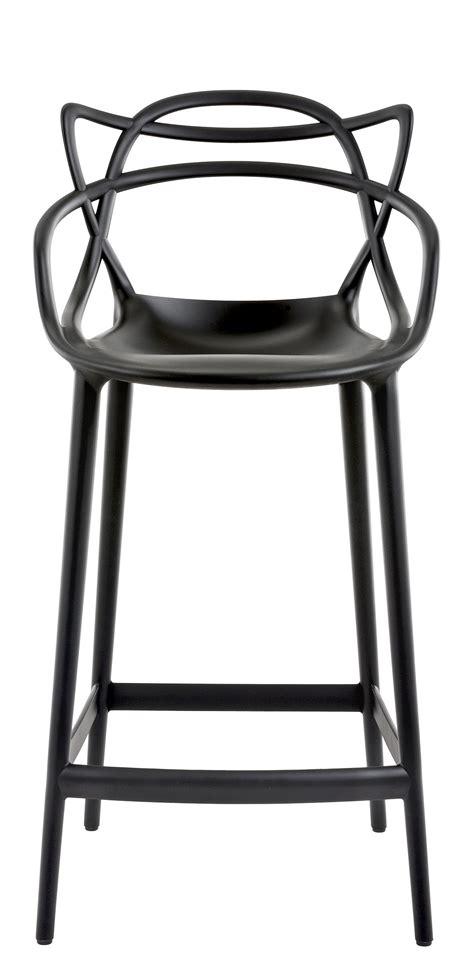 kartell bar stools masters bar chair h 65 cm polypropylen black by kartell