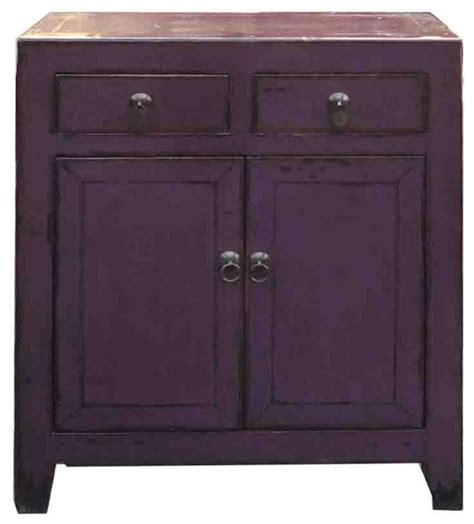 purple accent table chinese purple lacquer side storage cabinet table