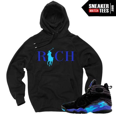 Hoodie Air 7 Roffico Cloth aqua 8s match t shirts retros black friday