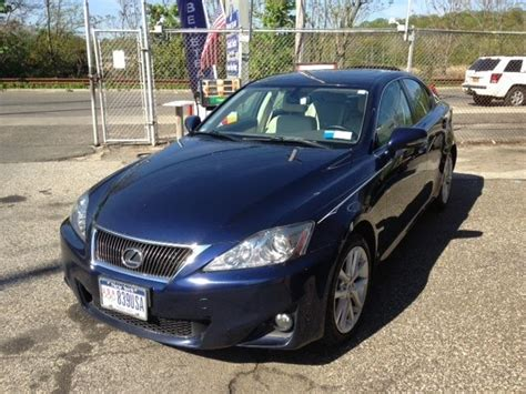 navy blue lexus jthcf5c21c5055147 lexus is250 awd navy blue sedan four