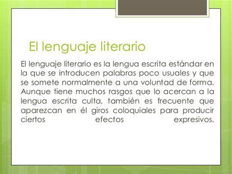 imagenes lenguaje literario las caracter 237 sticas del lenguaje literario en espa 241 ol