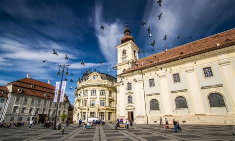 Attractive Jewel City Church #1: The-Roman-Catholic-Church-view-from-Big-Square-in-Sibiu-Romania.jpg