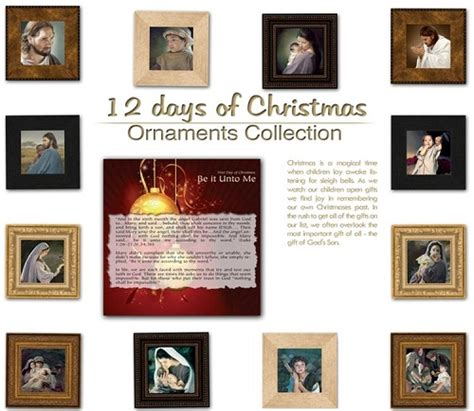12 days of christmas ornament set by liz lemon swindle