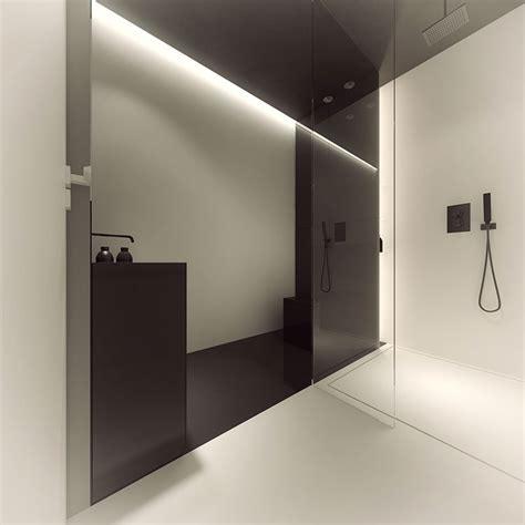 bodengleiche dusche wasser läuft aus minimal design ecco come arredare una casa di tendenza