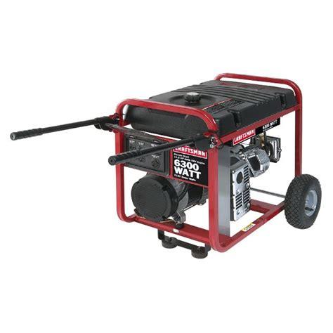 craftsman 32630 6300 watt generator sears outlet
