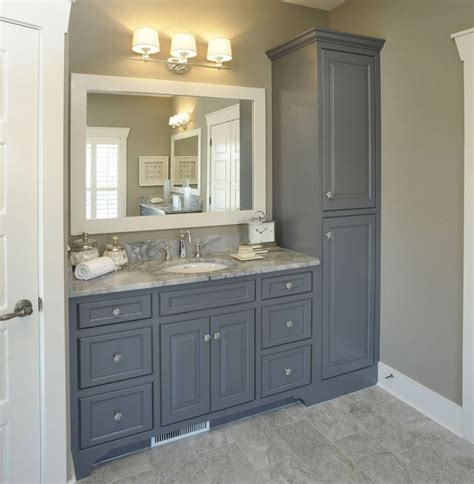 vanity linen cabinet with her bathroom with no linen closet vanity with linen cabinet