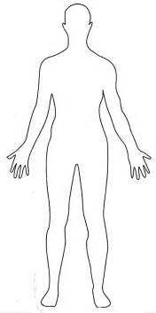 human figure template sketch of human front and back coloring pages