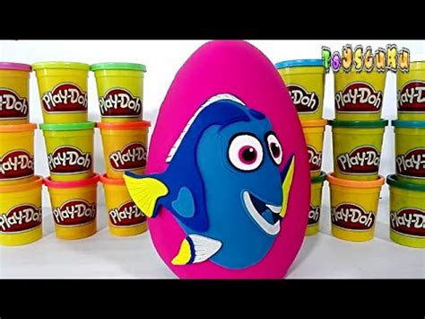 row row your boat disney row your boat colors play doh giant disney finding dory