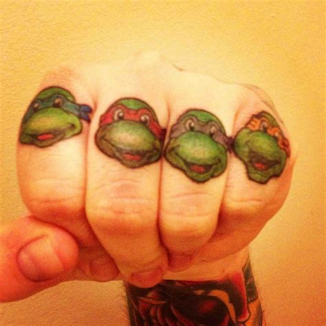tmnt master splinter on my thumb done by dave at custom