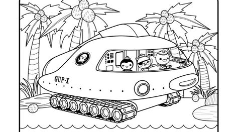 Gup X Coloring Page gup x octonauts coloring page sketch coloring page