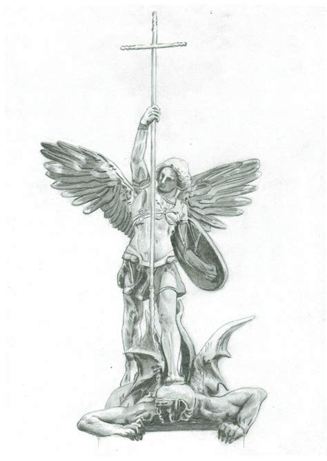 st michael the archangel tattoo designs michael pencil and in color