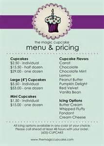 cupcake menu template 1500px