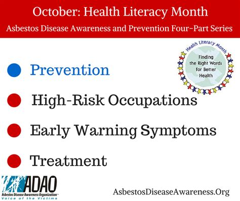 health literacy month one community october health literacy month part 1 prevent asbestos