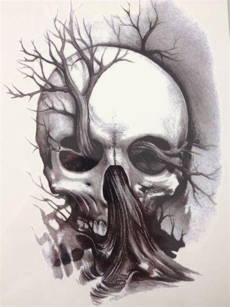 And Skull Temporary Sale21 X 15 Cm Tree And Skull Temporary