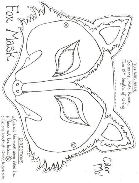 fantastic mr fox mask template felt pattern felt pattern felt patterns