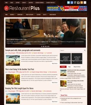 free blogger templates for restaurant food and drink blogger templates 2018 free download