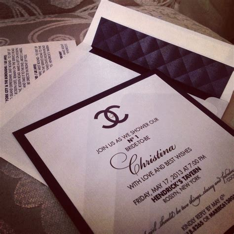 coco chanel wedding invitations chanel inspired bridal shower invites designed at the
