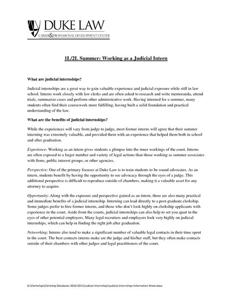 cover letter for paralegal internship sle cover letter for internship guamreview
