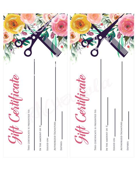 free printable hair salon gift certificate template printable hair salon gift certificate template lamoureph