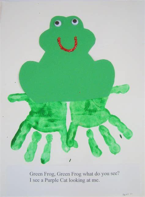 frog pattern for kindergarten preschool ideas for 2 year olds brown bear hand print book