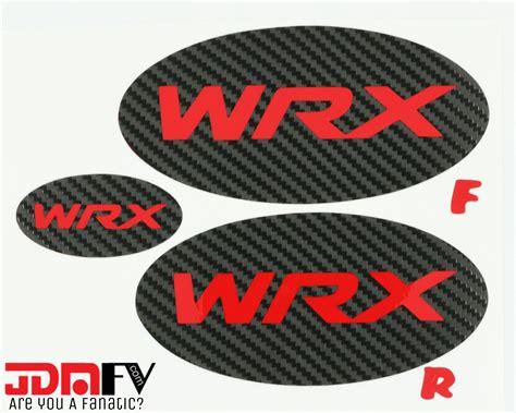 subaru wrx logo wrx logo precut emblem overlays front rear 15 17 wrx
