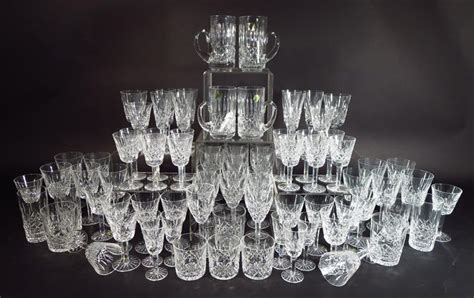 lismore pattern history igavel auctions 80 pc waterford cut glass stemware and