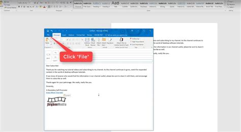 How To Create An Email Template In Outlook Microsoft Outlook Email Template