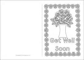get well soon card template get well soon coloring cards coloring pages