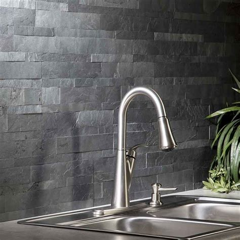 Floor And Decor Website by Aspect Backsplash Stone Tile In Charcoal Slate