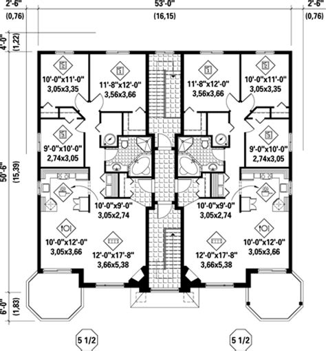 multiple family home plans multi family plan 52764 at familyhomeplans com