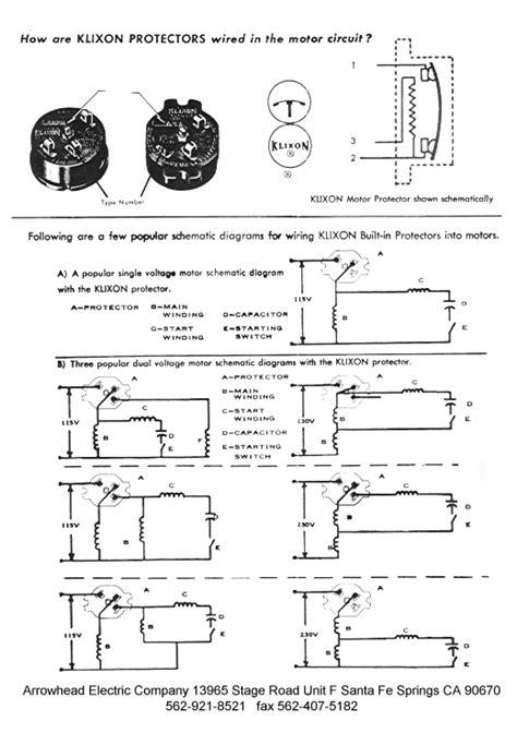 klixon motor protectors