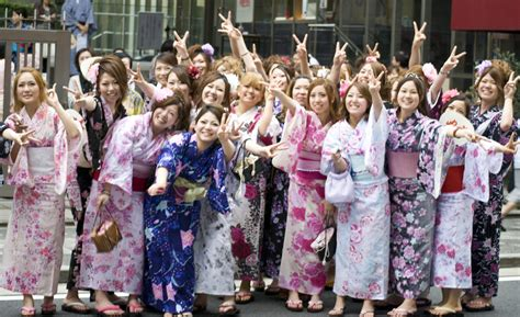 gion festival just started group portrait of cute japanes