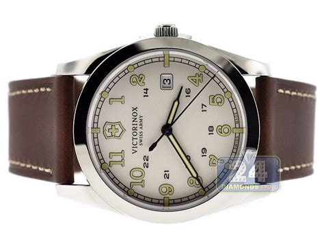 Swiss Army Leather Brown swiss army infantry brown leather mens 241564
