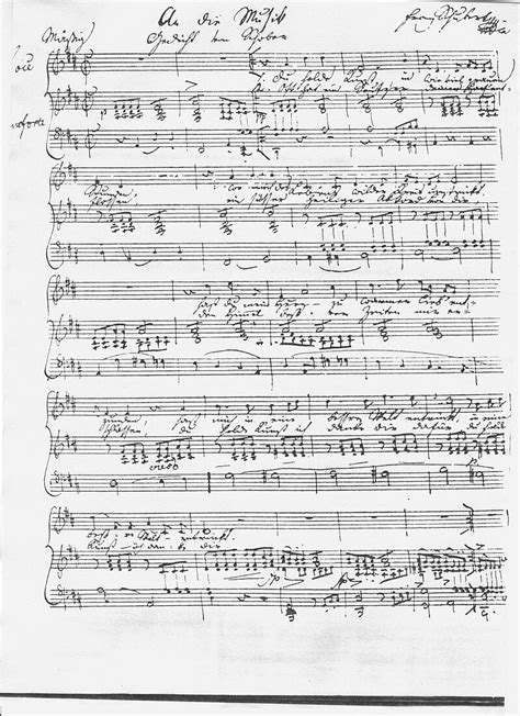 A Manuscript To Die For manuscript of the 1817 lied song an die musik to