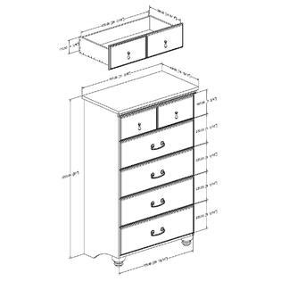 Kmart 5 Drawer Chest by South Shore Noble Collection 5 Drawer Chest Mahogany