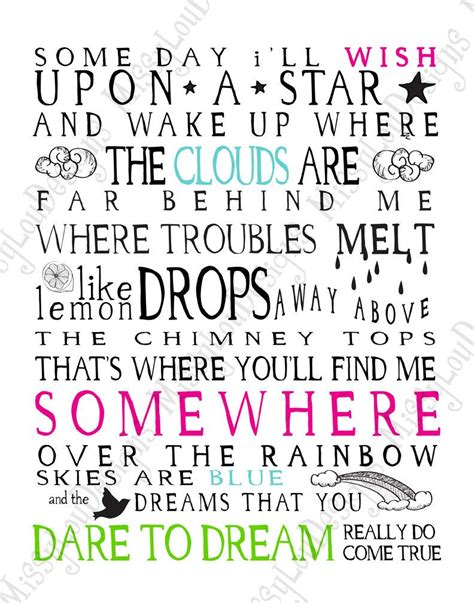 the song from somewhere somewhere over the rainbow lyrics master bedroom rainbows typography and songs