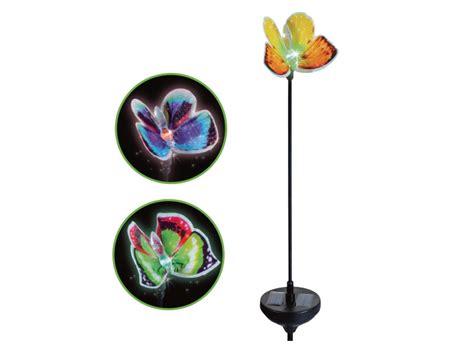 melinera led light decoration melinera solar powered led butterfly garden light lidl
