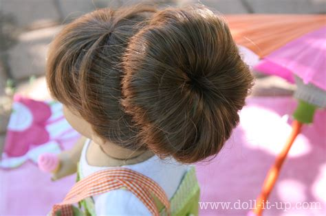 how to mack a bun in a dall hade doll hair the fabulous sock bun doll it up