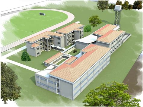 secondary school building plan modern house