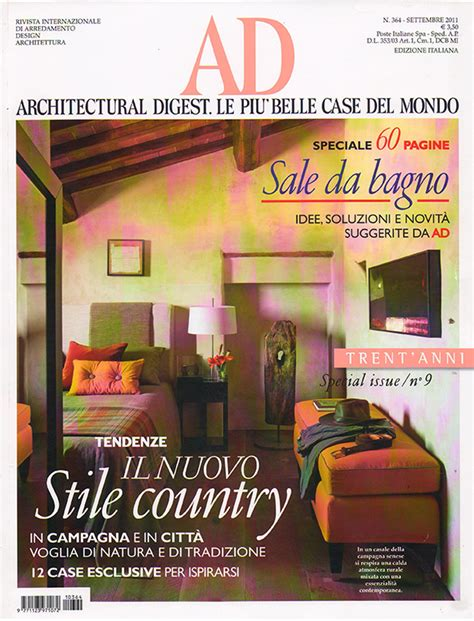 ad rivista di arredamento ad architectural digest design industriale sestini corti