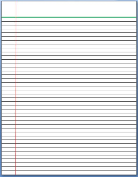 How To Make Lined Paper - lined paper template word documents