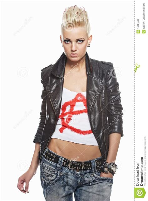 Punk  With A Cigarette Royalty Free Stock Photography   Image: 20621057
