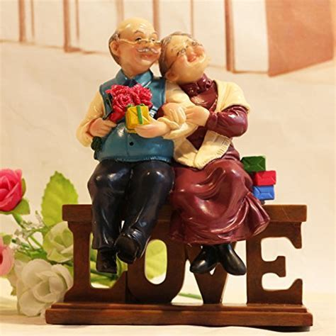 DreamsEden Loving Elderly Couple Figurines, Old Age Life