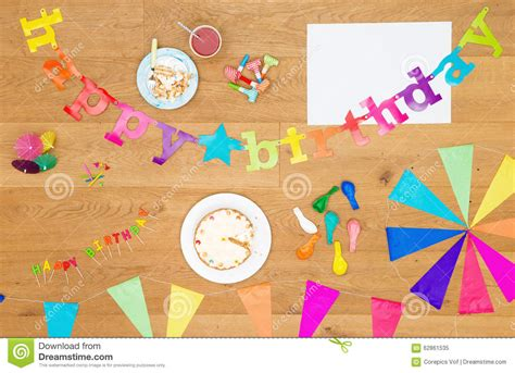 Birthday Party Invitation Background With Copy Space Stock Photo Image 62861535 Birthday Invitation Background Templates