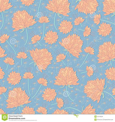 natural pattern flower flower pastel color seamless pattern stock vector image