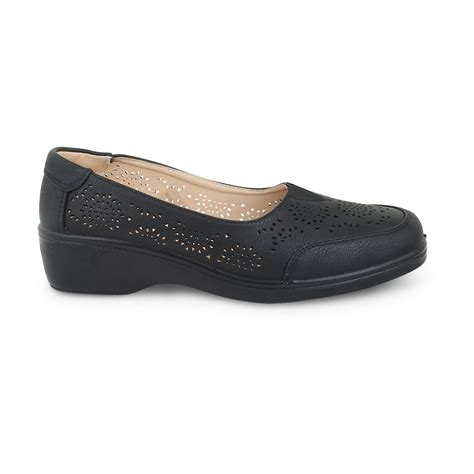 womens moccasin shoes office work gusset wedge