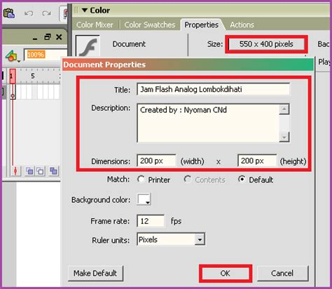 tutorial membuat jam flash cara membuat jam analog animasi dengan macromedia flash