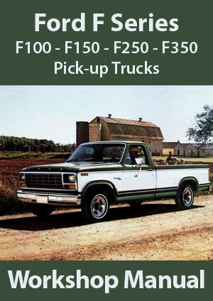 car repair manuals online pdf 1995 ford econoline e350 electronic toll collection ford f series f100 f150 f350 workshop manual 1980 1995 ebay